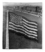 Flag Formation, C1917 Fleece Blanket