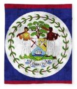 Flag Of Belize Fleece Blanket