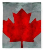 Flag Of Canada Fleece Blanket