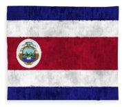 Flag Of Costa Rica Fleece Blanket