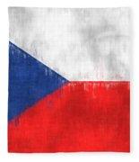 Flag Of Czech Republic Fleece Blanket