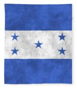 Flag Of Honduras Fleece Blanket