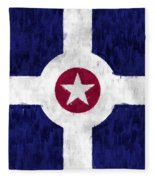 Flag Of Indianapolis Fleece Blanket