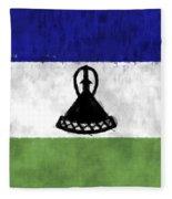 Flag Of Lesotho Fleece Blanket