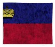 Flag Of Liechtenstein Fleece Blanket