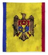 Flag Of Moldavia Fleece Blanket