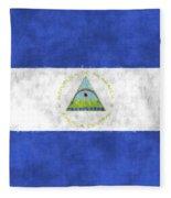 Flag Of Nicaragua Fleece Blanket