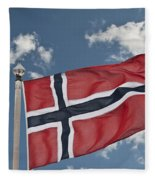 Flag Of Norway Fleece Blanket