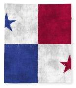 Flag Of Panama Fleece Blanket