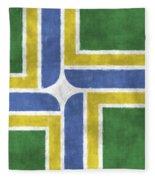 Flag Of Portland Fleece Blanket