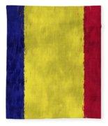 Flag Of Romania Fleece Blanket