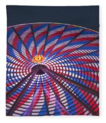 Flag Wheel Fleece Blanket