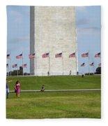 Flags Around Washington Fleece Blanket