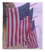 Flags At Cape May Nj Fleece Blanket
