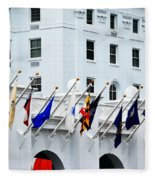 Flags At The Greenbrier Fleece Blanket