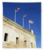 Flags Of San Christobal Fleece Blanket