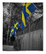 Flags Of Sweden Fleece Blanket
