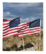 Flags On Antelope Island Fleece Blanket