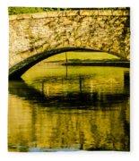 flagstone walking bridge at Freedom Park in Charlotte North Car Fleece Blanket