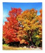 Flamboyant Autumn Fleece Blanket