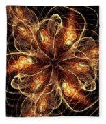 Flame Flower Fleece Blanket