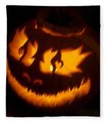 Flame Pumpkin Side Fleece Blanket