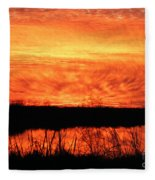 Flamed Sunset Fleece Blanket