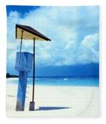 Flamenco Beach And Storm Fleece Blanket