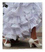 Flamenco Dancer In White Fleece Blanket