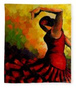 Flamenco Fleece Blanket