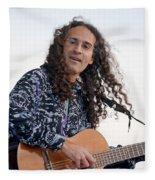 Flamenco Guitarist Fleece Blanket
