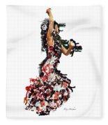 Flamenco Series #12 Fleece Blanket