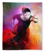 Flamencoscape 03 Fleece Blanket