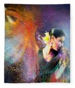 Flamencoscape 04 Fleece Blanket