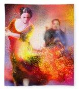 Flamencoscape 11 Fleece Blanket