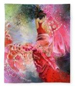Flamencoscape 13 Fleece Blanket