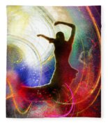 Flamencoscape 16 Fleece Blanket