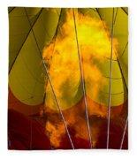 Flames Heating Up Hot Air Balloon Fleece Blanket