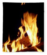Flames In The Dark Fleece Blanket