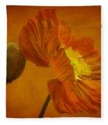 Flaming Beauty Fleece Blanket