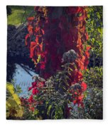 Flaming Beauty Fleece Blanket
