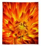Flaming Dahlia - Paintography Fleece Blanket