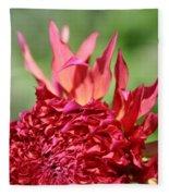 Flaming Petals Fleece Blanket
