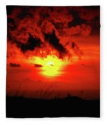 Flaming Sunset Fleece Blanket