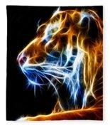 Flaming Tiger Fleece Blanket