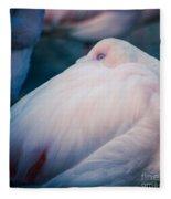 Flamingo 1b - Square Fleece Blanket