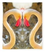 Flamingo Double Vision #1 Fleece Blanket