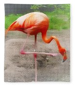 Flamingo Four Fleece Blanket