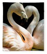 Flamingo Heart Fleece Blanket