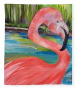 Flamingo Fleece Blanket